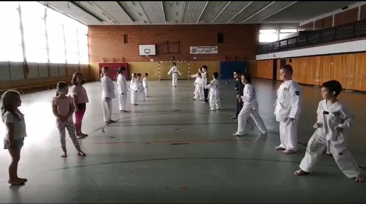 Taekwondo Training beim TuS Oedt